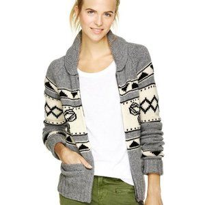 Aritzia TNA Sweater Grey Wool Cardigan